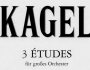 Tres estudios para gran orquesta, de Mauricio Kagel[PDF-Score]
