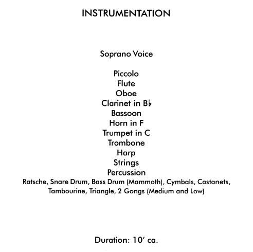 Instrumentación - Offrandes de Edgard Varèse